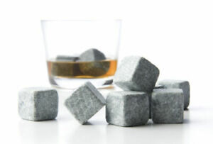 Whiskey Stones - 9 Pieces with Bag - Keeps Scotch or Other Drinks Cold (New)