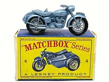 Matchbox Lesney No.4c Triumph T110 Motorcycle And Sidecar Type In D1 Series Box