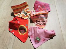 5x Baby Lätzchen Dreieckstuch Halstuch Spucktücher Sabbertuch Mädchen