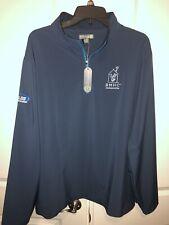 Peter Millar Element Wind Golf Jacket XL Men Blue Poly Lycra Full Zip