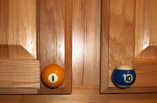 Pool Ball Cabinet Knobs/Drawer Pulls Handcrafted