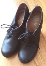 Jeffrey Campbell EARNEST black wedge heel lace up leather shoes booties 8.5