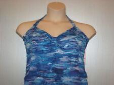 Liz Lange Maternity Tankini Swimsuit Blue Print Adjustable Sides XX Large 18 NWT