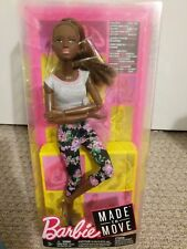 Barbie Made To Move AA Dark Skin Floral Rare