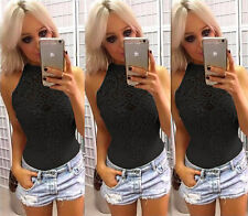 Fashion Women Summer Lace Vest Blouse Casual Tank T-Shirt Tops Sleeveless Shirt
