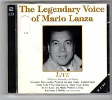 (GL954) The Legendary Voice of Mario Lanza, Live - 1996 double CD