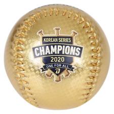KBO NC Dinos 2020 Korean Series Champion Baseball Gold Ball with Clear Case