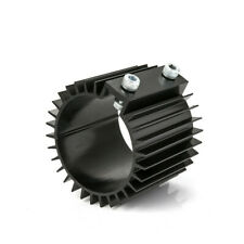 """Universal Circular Heat Sink Cooler Cover 3"""" ID 80mm Fuel Oil Motorcycle Black"""