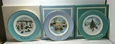 Avon Enoch Wedgewood Christmas Collector Plates 1973 1977 1978 lot of 3 orig box