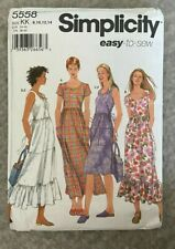 Pattern 5558 Sundress summer easy Tote dress sewing sz 8-14