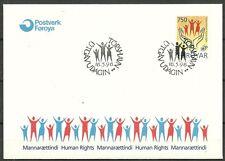 Farör/diritti umani MiNr 340 FDC