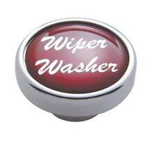 knob wiper washer red glossy sticker for Peterbilt Kenworth Freightliner