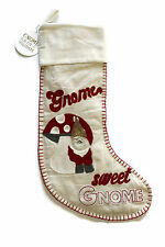 Pottery barn christmas Sweet Gnome holiday stocking NEW NWT