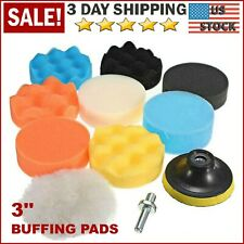 Car Buffing Pads Polishing Waxing Sponge Buffer Set Foam Polisher Kit for Drill