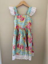 Kellys Kids girls flower dress size 10-12 blue