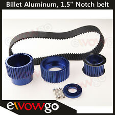 "12A 13B 20B 15mm RX7 FD FC RX3 Gilmer Drive Pulley Kit 1.5"" Notch Nelt Blue"