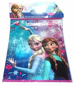 DISNEY FROZEN  8 Loot Bags Party New In Package