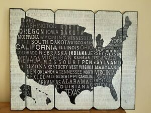 UNITED STATES OF AMERICA READY TO HANG WOOD FAMILY FARMHOUSE WALL ART