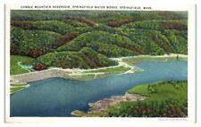 1939 Cobble Mountain Reservoir, Springfield Waterworks, Springfield, MA Postcard