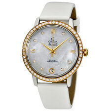 Omega De Ville Mother Of Pearl Butterfly Dial Ladies Watch 424.27.33.20.55.002
