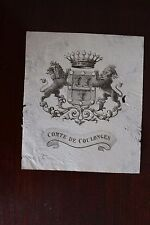 ✒ EX LIBRIS Comte de Coulonges - armorié