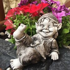 Gnom, Wichtel SteinfigurTroll, Gartenfigur ART F0030
