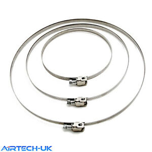 """Jubilee Type Clip Clamp 4"""" to12"""" Diameter Flexible Ducting Hose Pipe Ventilation"""