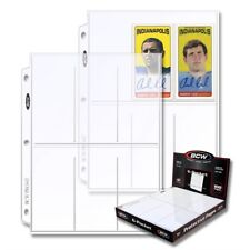 100 Trading Gaming Sport Cards Album Pages 6 Pockets BCW Archival Quality Box