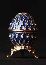 "St Petersburg Russian Faberge Egg: Easter Egg Trinket Box, 1.2"" ""3-Line Net"""
