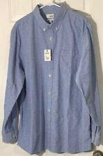 Sonoma Mens XL Blue Dress Shirt Pocket Button Front NWT