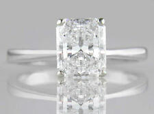 Diamond Platinum Ring Engagement Solitaire 1.50ct Certified D IF VG Radiant VG