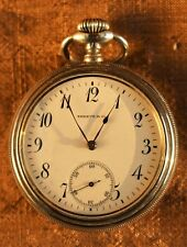 Open Face Antique Pocket Watch by Shreve & Co. of San Francisco (.935 Sterling)