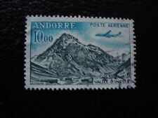 ANDORRE (francais) - timbre yvert et tellier aerien n° 8 obl (A33) stamp andorra