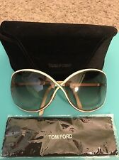EUC preowned Designer Tom Ford Rickie Woman's Sunglasses White Frame UV Protect