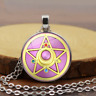 2pcs Sailor Moon Time Gemstone Necklace Jewelry Pendant