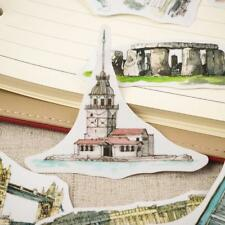 Travel Around The World Watercolor Hand-painted Building Decorative Stickers