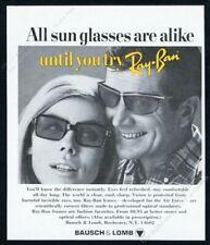 1967 Ray Ban sunglasses men's women's styles photo vintage print ad