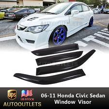 For 06-11 Honda Sedan Civic Window Visor Shade/Vent Wind/Rain Deflector 4 Door