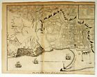 PLAN OF THE CITY OF BARCELONA  Original Antique Spain map 1741 BY: BASIRE