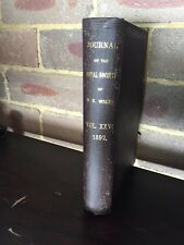 1892 AVIATION Lawrence Hargrave Flying Machine Royal Society Journal NSW