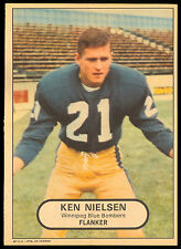 1968 OPC  POSTER INSERTS CFL FOOTBALL KEN NIELSON EX-NM WINNIPEG BLUE BOMBERS