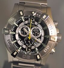 New Men Invicta 0356 Luminary Swiss Chronograph Black Dial Stainless Steel Watch