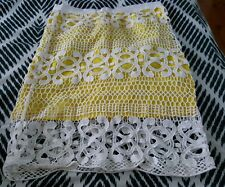 BARDOT Yellow Lace Crochet Knee Length Skirt Size 8