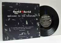 DAVID BAERWALD & DAVID RICKETTS welcome to the boomtown 10 INCH EX/VG, FREE 14,