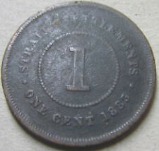 Straits Settlements 1 cent 1883 coin