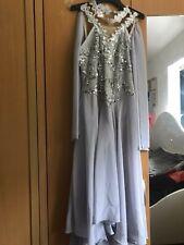 Stunning Girls Lyrical Dress, Dance Festival, Lunar Grey, XL Child size.