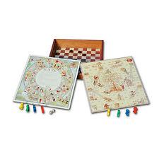 Französische Spielesammlung *NEU* Brettspiel aus Holz 2 bis 5 Spieler ab 4 Jahre