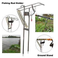 Auto Double Spring Angle Pole Fish Pole Bracket Fishing Rod Holder Ground Stand
