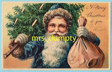 CHRISTMAS~Old World BLUE ROBE Santa~Quality PFB #7312