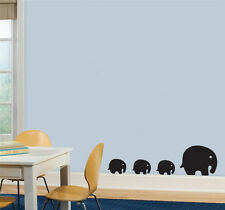 elephants love family Kids Quote Wall Stickers Art Room Removable Decals DIY